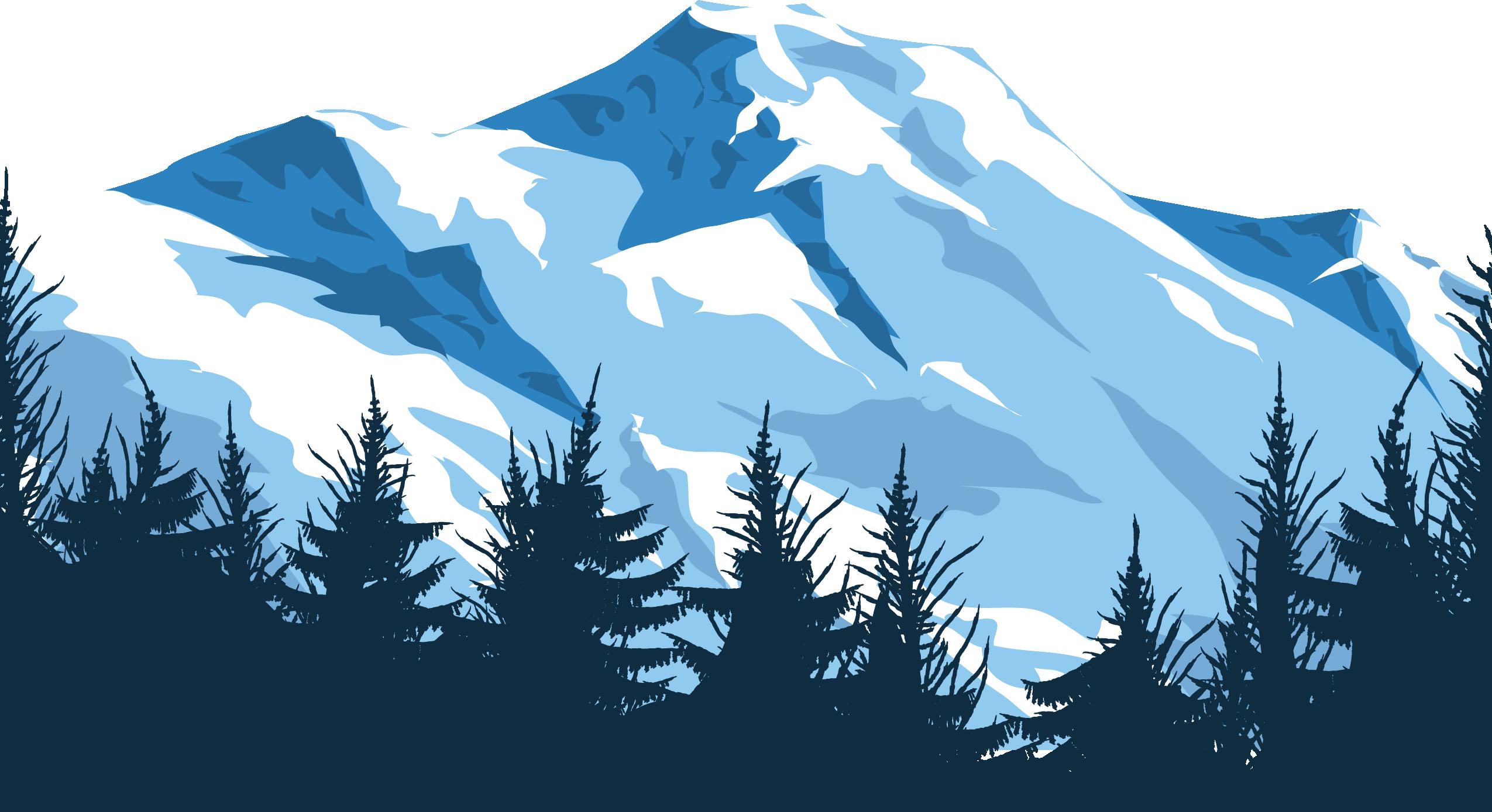 Mount Everest Mountain Euclidean vector Illustration.