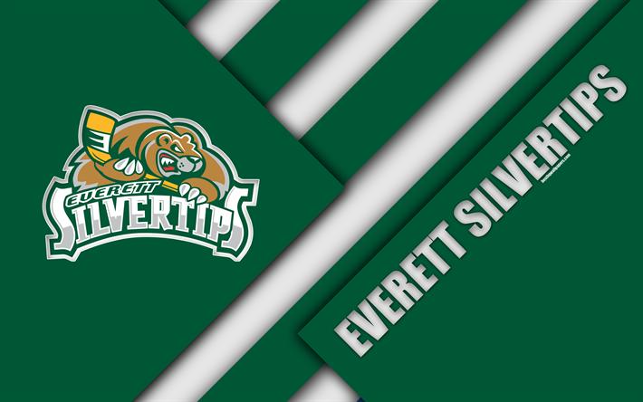 Download wallpapers Everett Silvertips, Washington, USA, WHL.