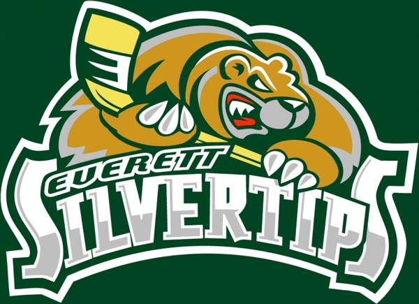 Everett silvertips eps, svg file.