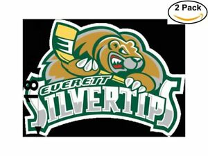 Details about Hockey Everett Silvertips Logo 2 Stickers 18 Inches Sticker  Decal.