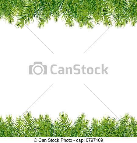Evergreen border clipart » Clipart Portal.