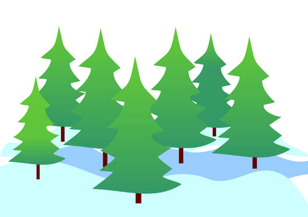 Evergreen tree clip art.