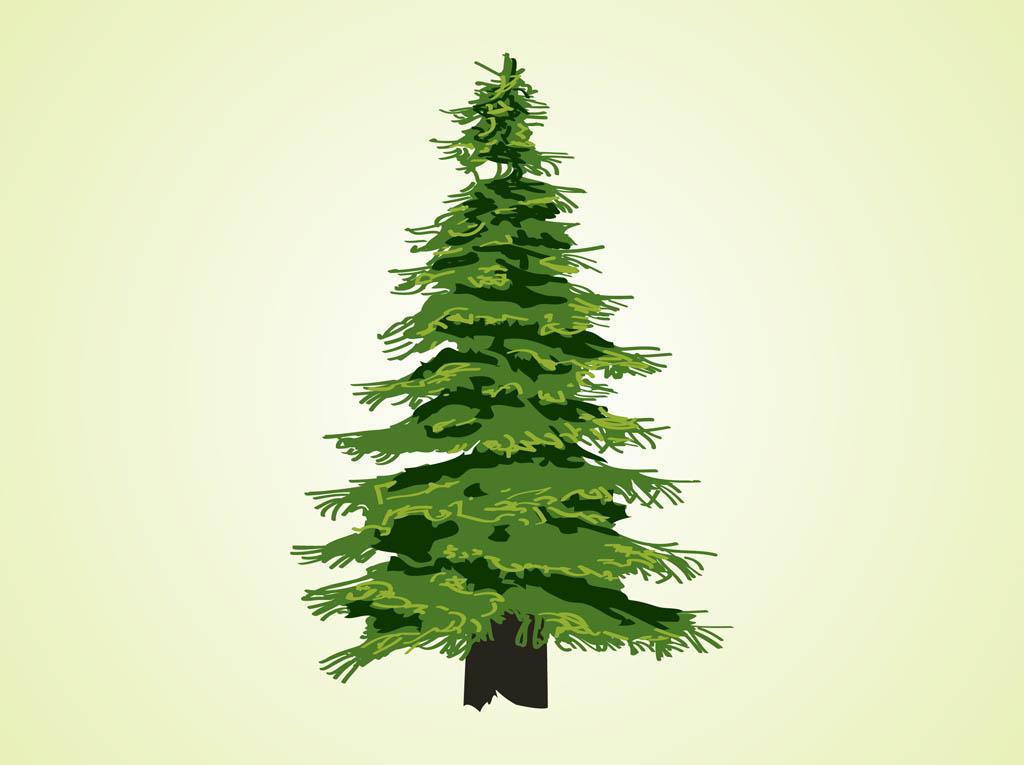 Evergreen Tree Free Clipart.