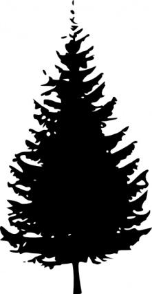 Evergreen Silhouette Clipart.