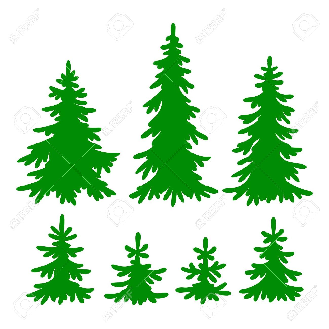 Evergreen Clip Art.