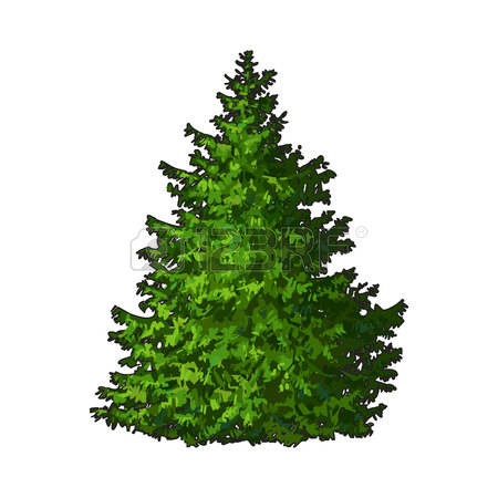 Harmonic Tree Clip Art ., Evergreen Tree Free Clipart.