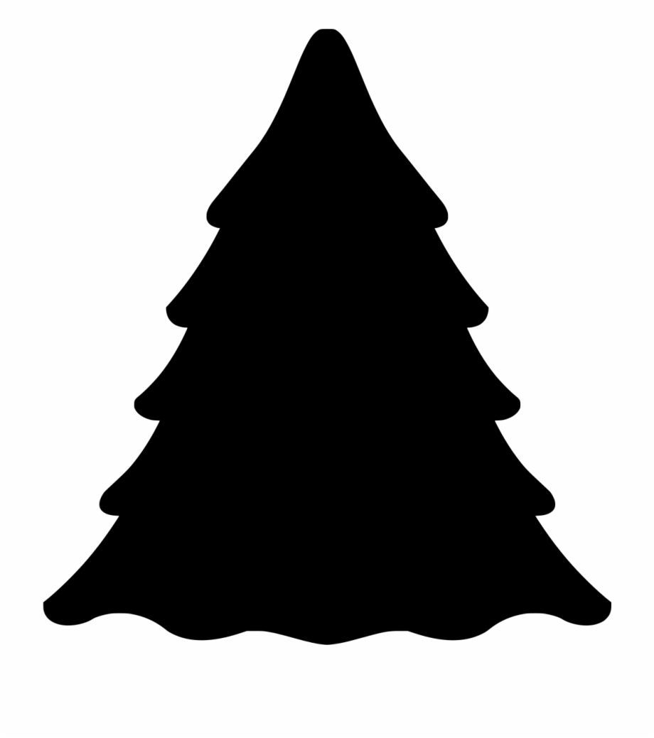 This Free Icons Png Design Of Evergreen Tree Silhouette.