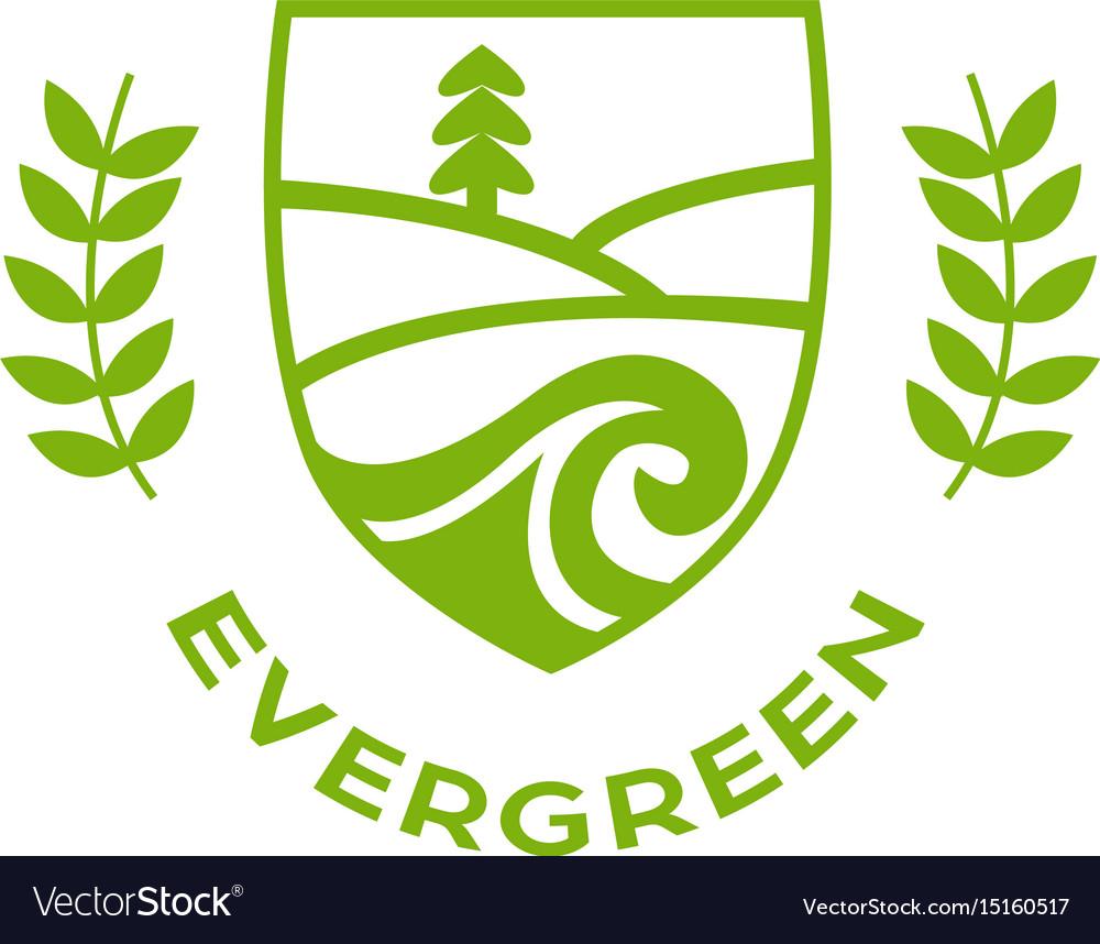 Eco logo evergreen logo logo template.