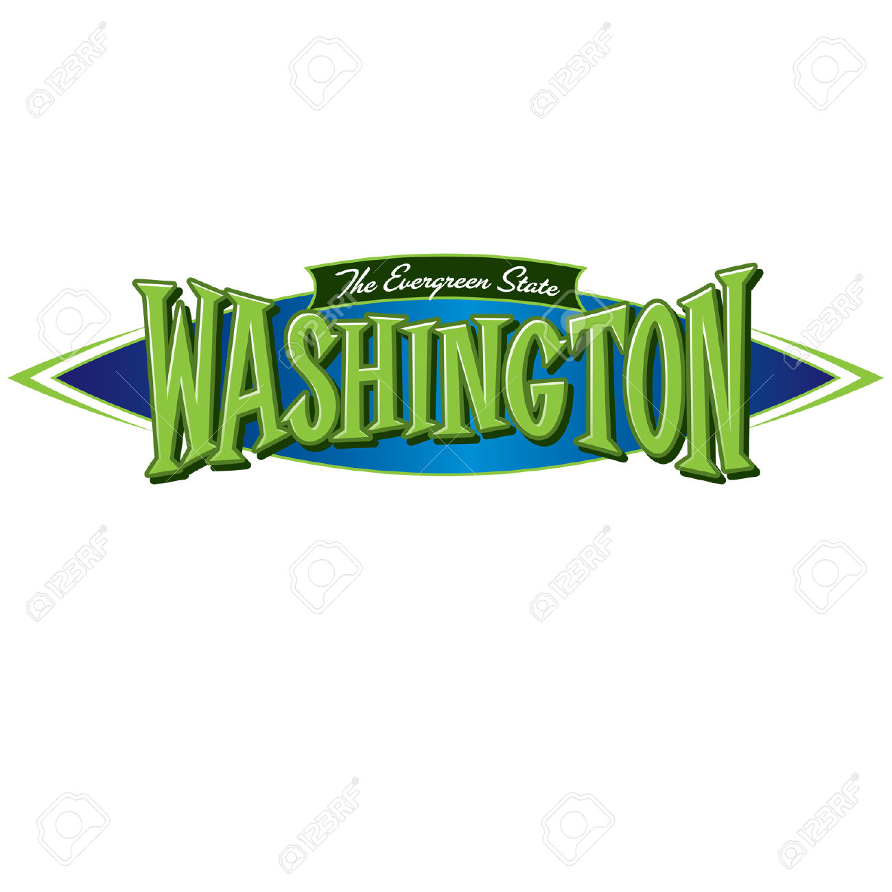 Washington The Evergreen State Royalty Free Cliparts, Vectors, And.