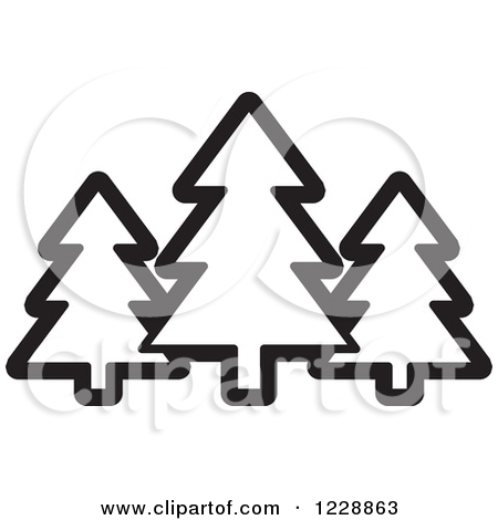Evergreen tree clipart for tattoo.