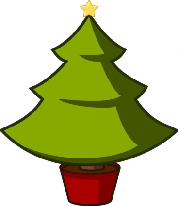 Evergreen tree clipart for christmas.