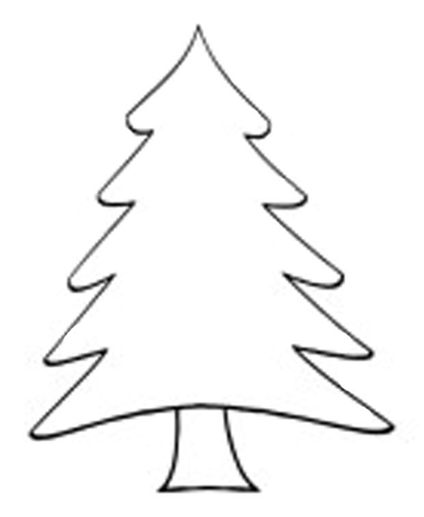 evergreen tree clipart black and white clipground