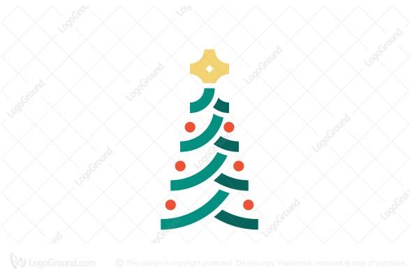 Exclusive Logo 185980, Christmas Tree Logo.