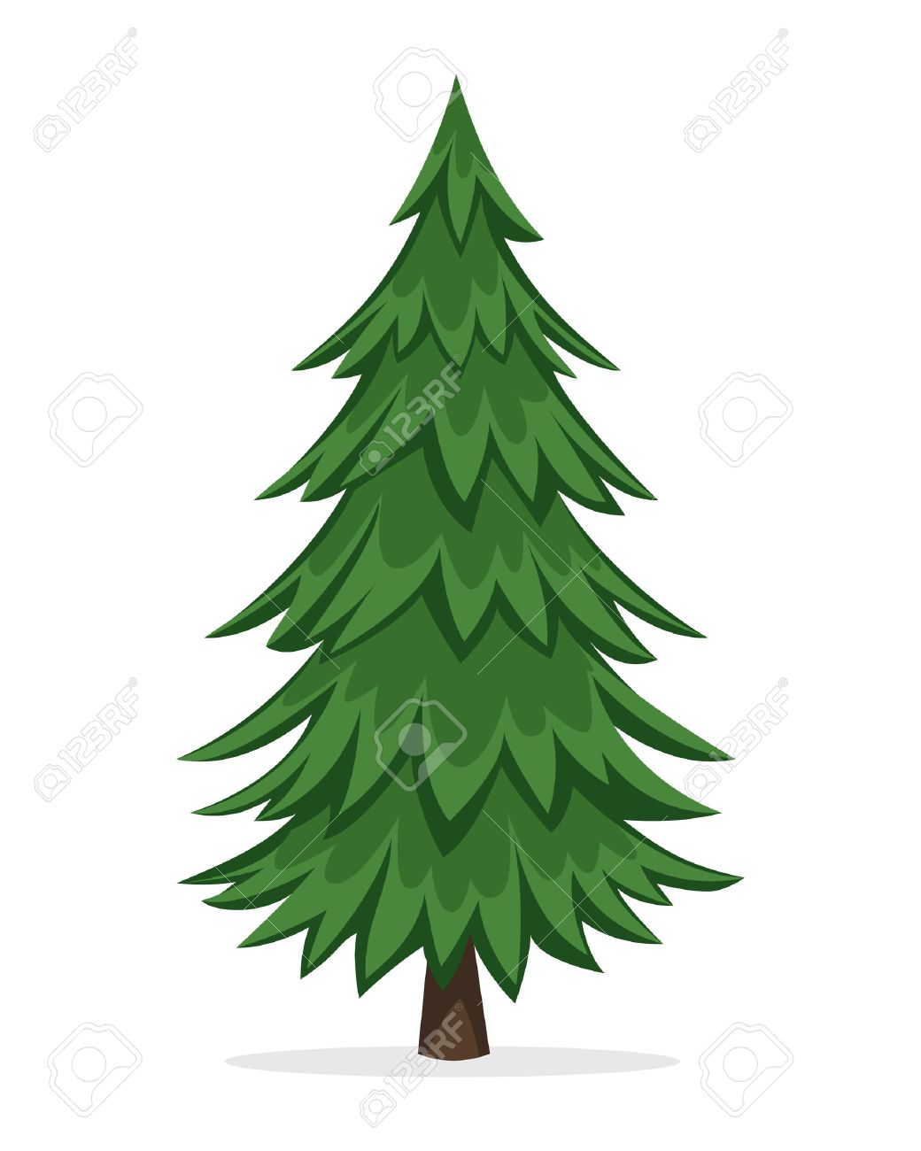 Cartoon Pine Tree.