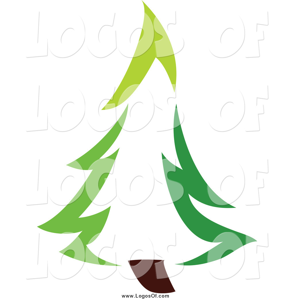 Vector Clipart of a Green Evergreen Tree Logo by elena.