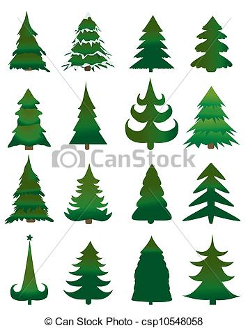 Trees evergreens Vector Clip Art EPS Images. 8,898 Trees.