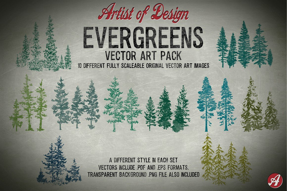 Evergreen clipart Photos, Graphics, Fonts, Themes, Templates.