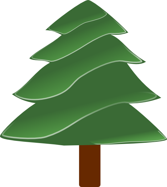 Simple Evergreen, With Highlights Clip Art at Clker.com.