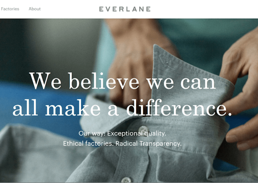 The Sustainable Brand Creating Change: EVERLANE.