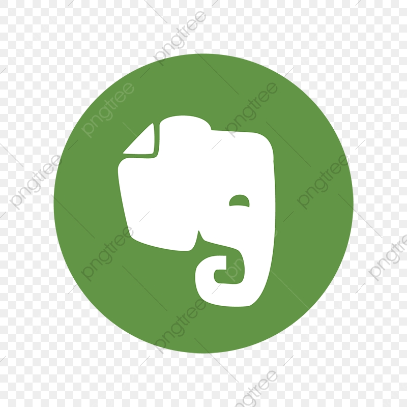 Evernote Elephant Color Icon, Ever, Note, Social PNG and Vector with.