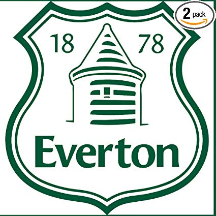 Amazon.com: PREMIER LEAGUE FC EVERTON LOGO BLACK N WHITE.
