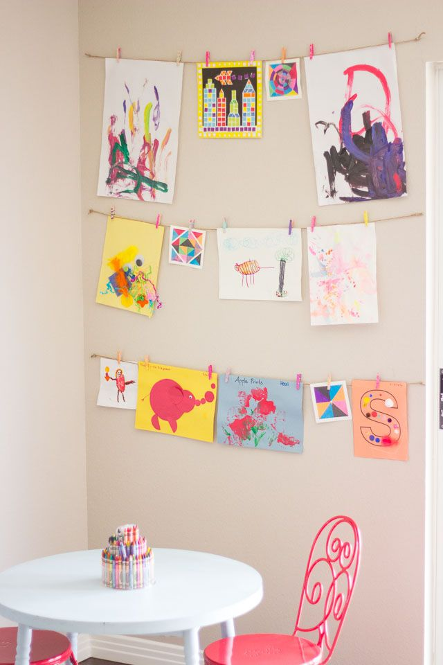 The Simplest Way to Display Your Kids\' Art.