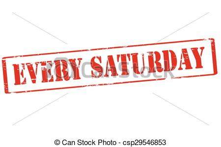 Clipart Vector of Every Saturday.