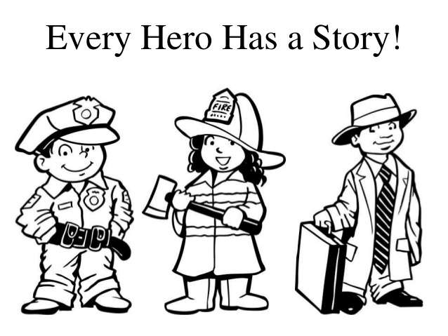 Every hero has a story clipart.
