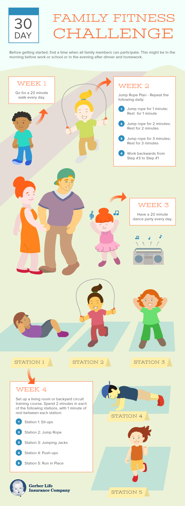 30 Day Family Fitness Challenge.