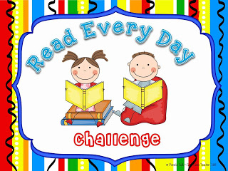 First Class Teacher: Read Every Day Challenge Chart.