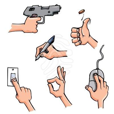 Working hand in hand clip art.