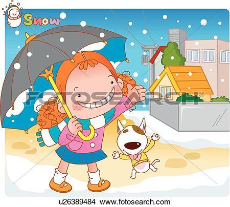 Drawings of Girl, Child, kids, kid, children, pet dog, Everyday.