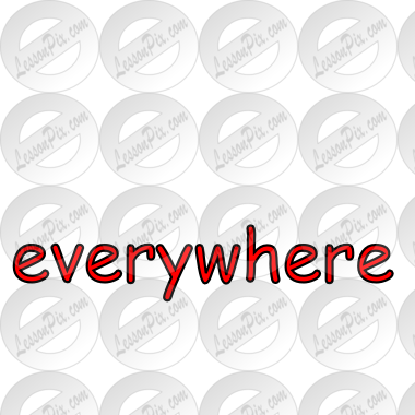 everywhere Picture for Classroom / Therapy Use.