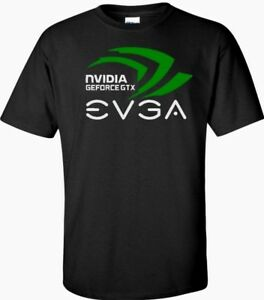 Details about Nvidia Geforce gtx EVGA T Shirt Logo Men\'s Black,White.