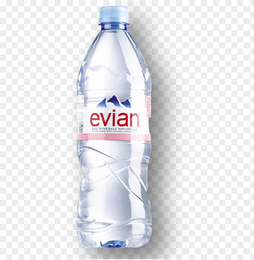evian natural mineral water PNG image with transparent.