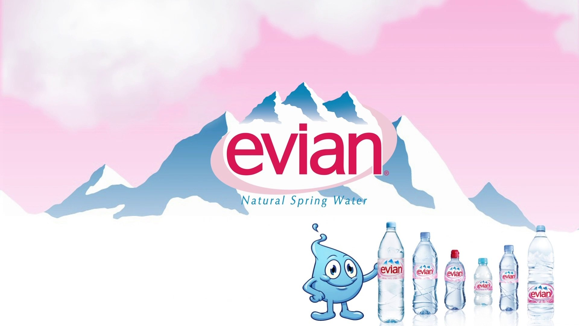#52 Evian Mineral Water Logo Plays With Mr. Water Parody.
