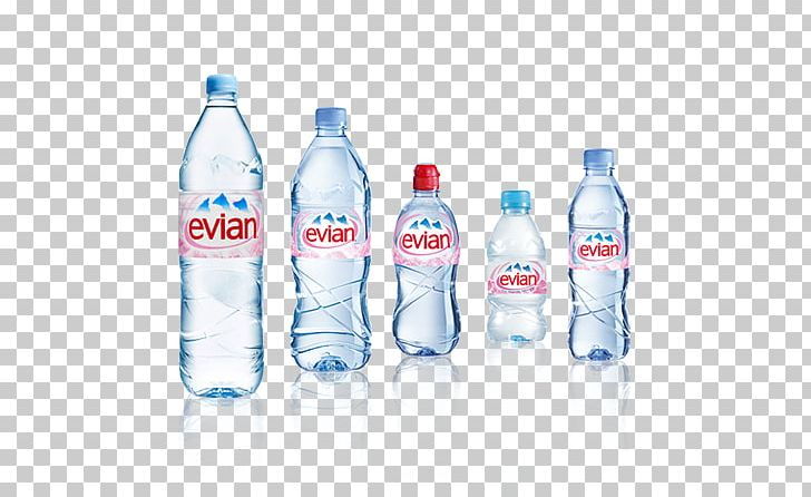 Evian Mineral Water Bottled Water PNG, Clipart, Advertising, Bottle.
