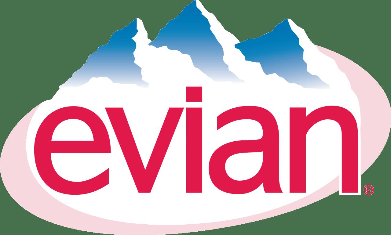 Evian Water Logo transparent PNG.