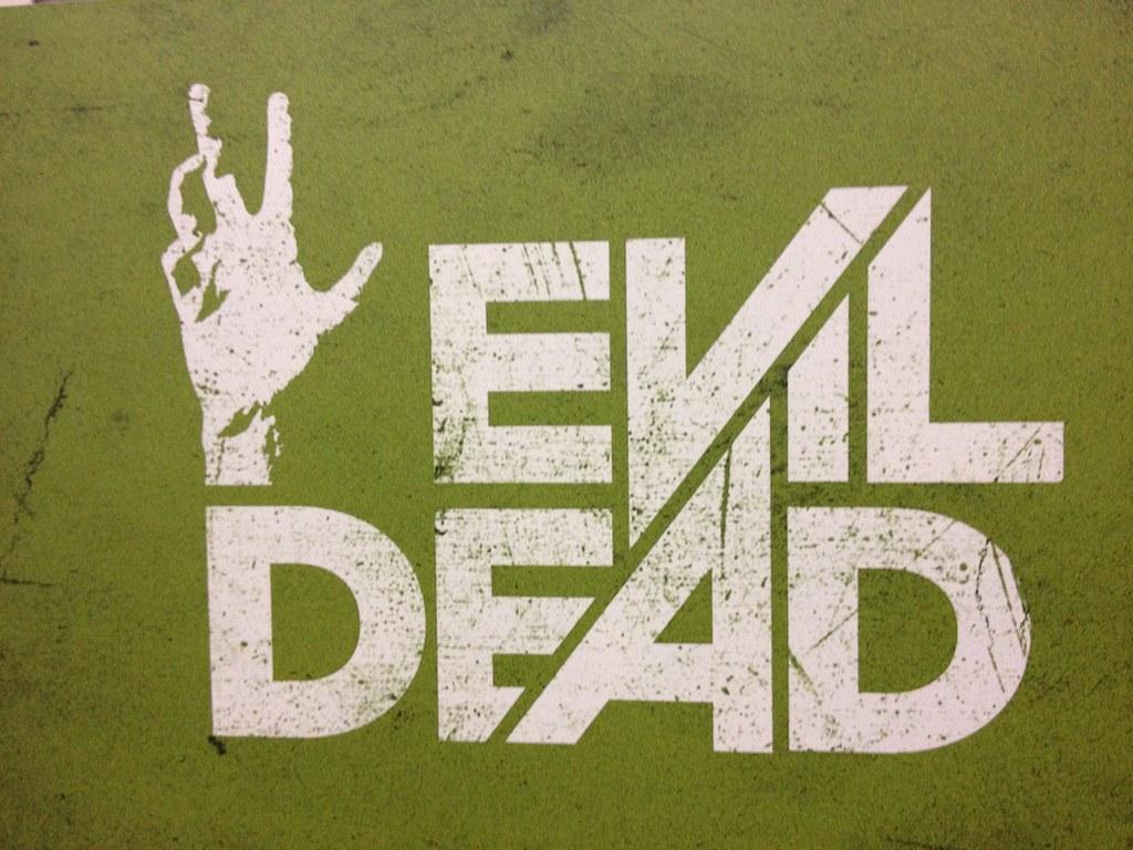 Evil Dead logo upcloe.