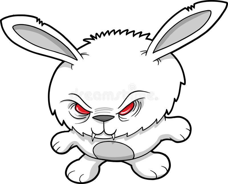 Evil Rabbit Clipart.