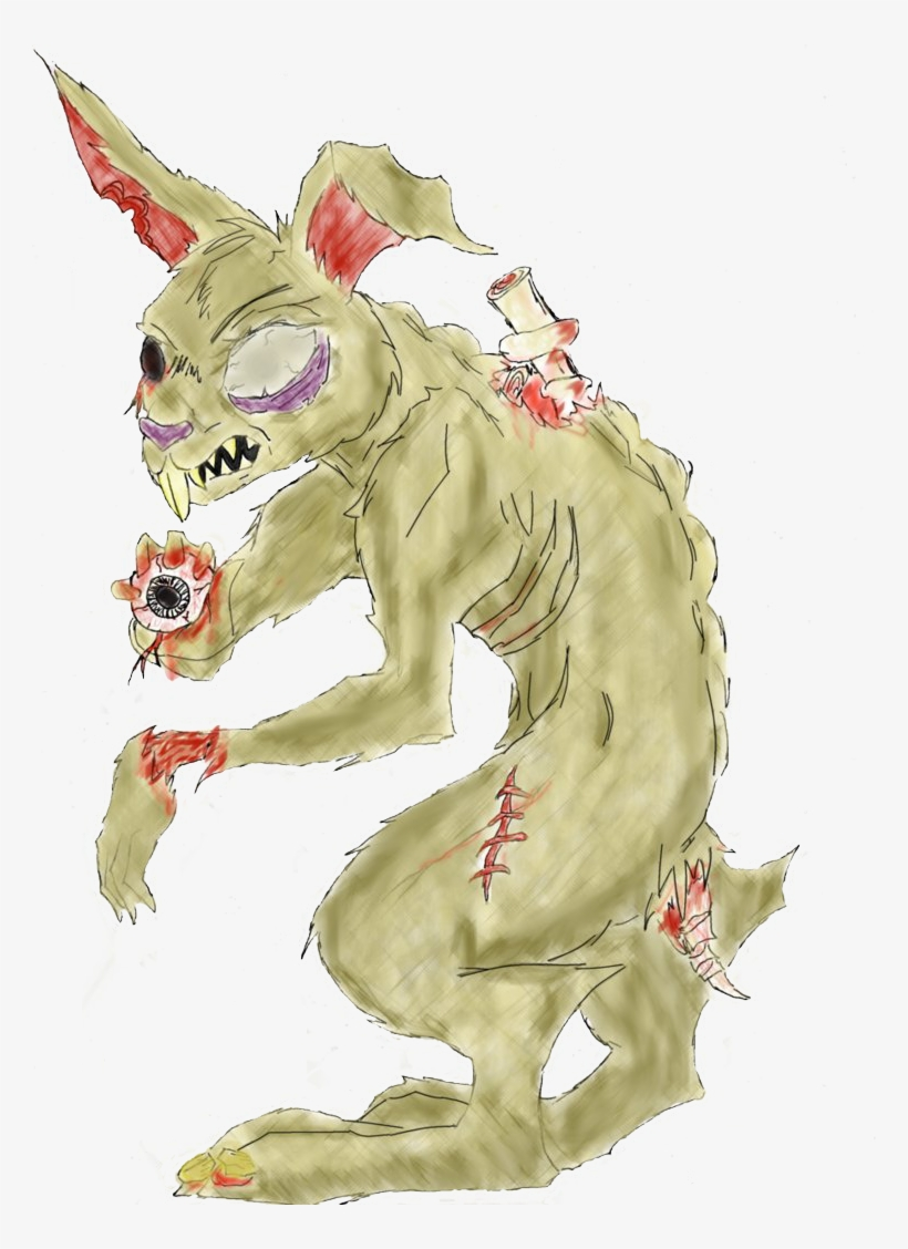 Evil Easter Bunny Drawing.