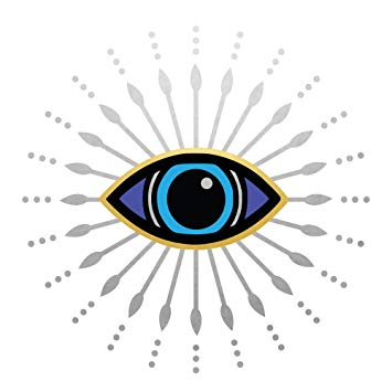 EVIL EYE Flash Tattoos variety set of 25 metallic waterproof temporary tats  in gold/sliver/blue colors.