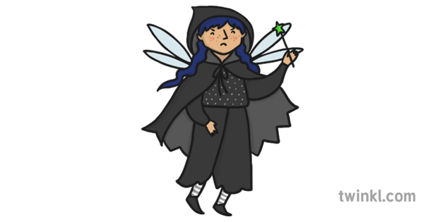 Wicked Witch Bad Evil Fairy Illustration.