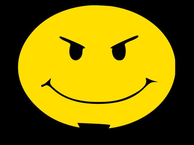 Devilish grin clipart.