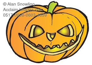 Evil Pumpkin Clipart.