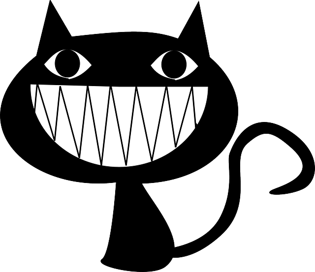 Devilish grin clipart.