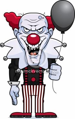 Evil Clown Clipart.
