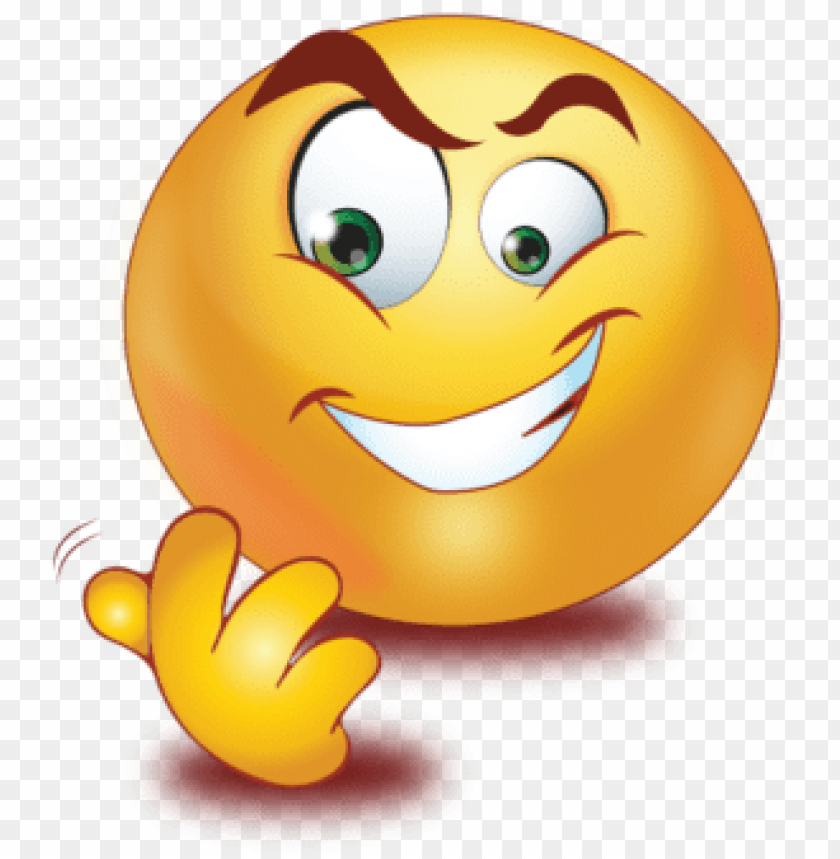 evil laugh emoji PNG image with transparent background.