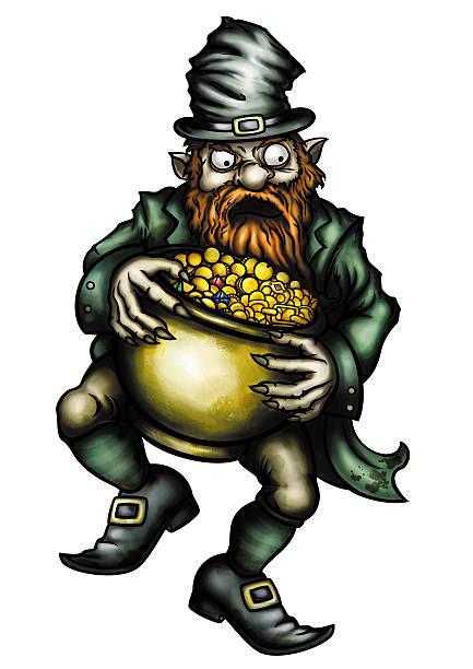 Cartoon Of A Evil Leprechaun Illustrations, Royalty.