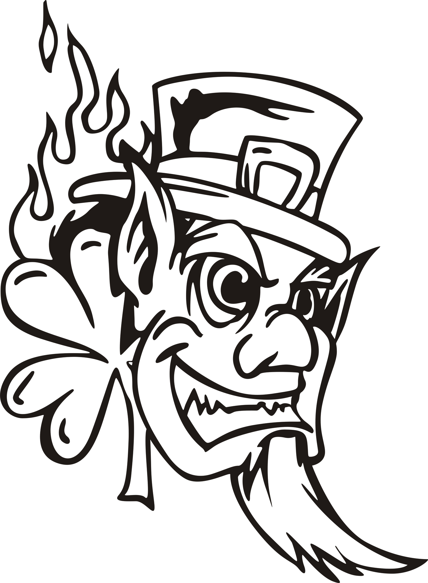 Evil Leprechaun Drawing.